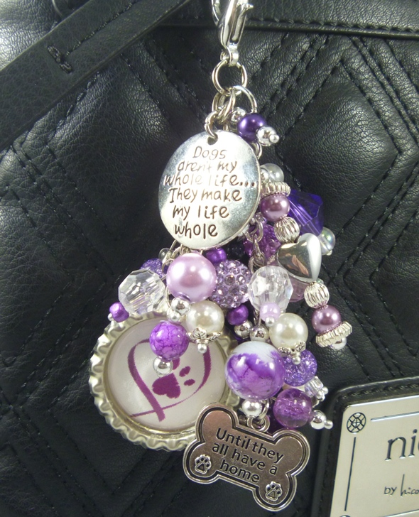 Rescue Purse Charm Key Chain